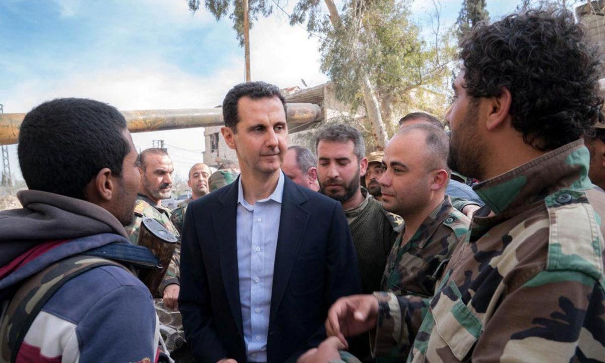 Bashar al-Assad et al. in uniform