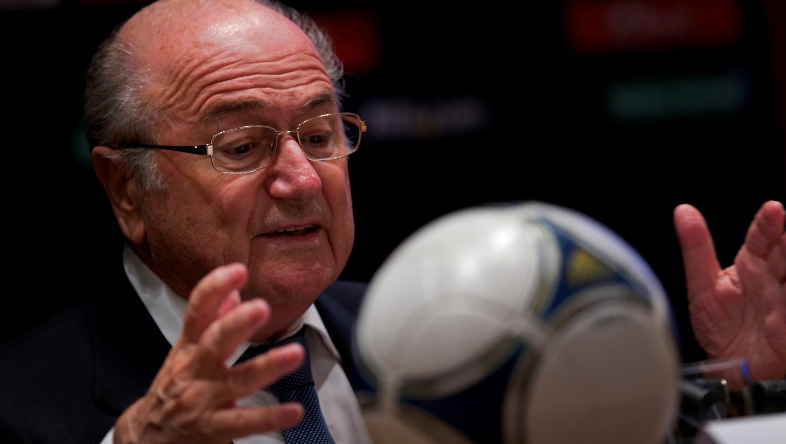 Sepp Blatter wearing glasses