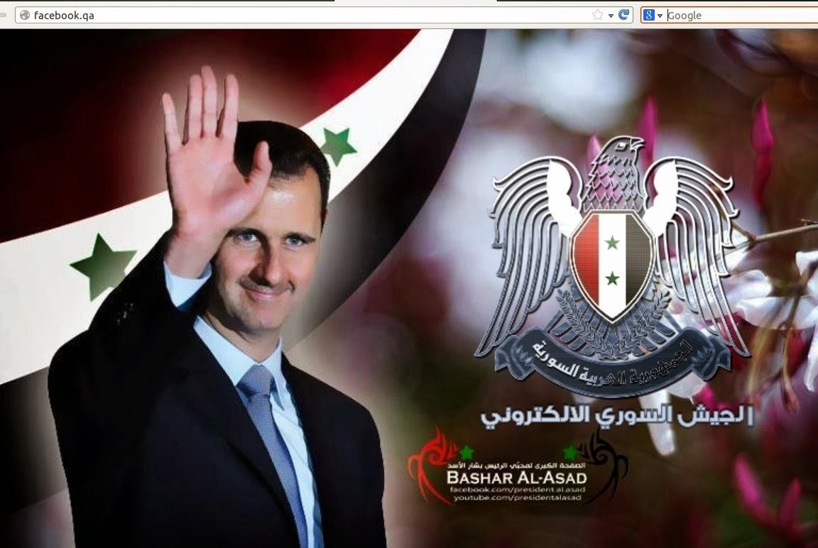 Bashar al-Assad wearing a suit and tie